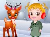 Baby Hazel. Reindeer surprise
