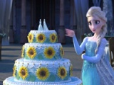 flash игра Frozen fever. Cake