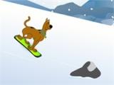 flash игра Scooby Doo Snowboarding