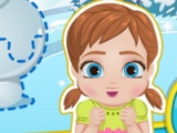 flash игра Baby Anna. Frostbites