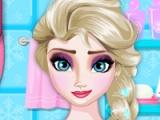 Elsa ag iompar clainne. Bathroom ghlanadh