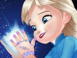 Baby Elsa. Great manicure