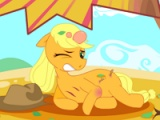 flash игра Apple jack pony. Feet doctor