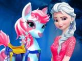 flash игра Elsa. Pony caring