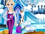 flash игра Elsa's ice garden