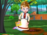 flash игра Frozen Anna fruit garden