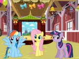 flash игра Party at Fynsy's. Celebrating with ponies