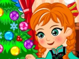 flash игра Princess Anna. Christmas slacking