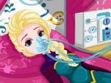 flash игра Elsa's stomach virus