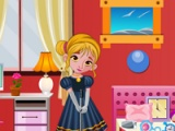 flash игра Frozen Anna bedroom cleaning