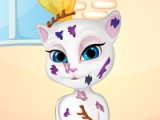 flash игра Messy Talking Angela