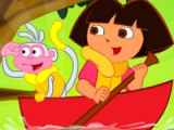 flash игра Dora river cleaning