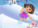 flash игра Dora Skating Accident