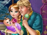 flash игра Anna and Kristoff. Baby feeding