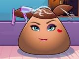 flash игра Pou girl: Hair salon