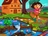flash гра Dora: Outdoor cleaning