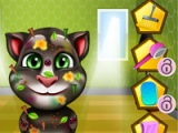 flash игра Messy Talking Tom. Makeover