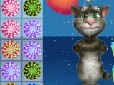 flash spel Talking Tom. Candy wedstryd
