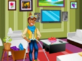 flash игра Clawd Wolf: Messy room cleaning