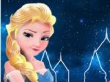 Elsa būvē saldētas pili