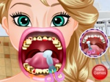 flash игра Elsa crazy dentist