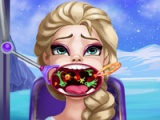 flash игра Elsa throat doctor