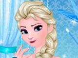 flash игра Frozen. Manicure