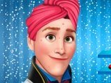 permainan flash Beku Kristoff. Makeover Smart